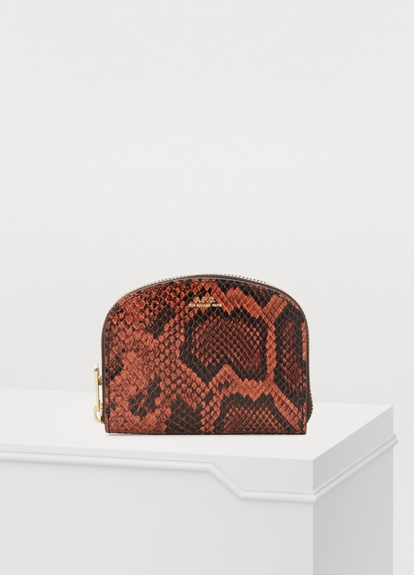 A.P.C.Half-Moon leather change purse