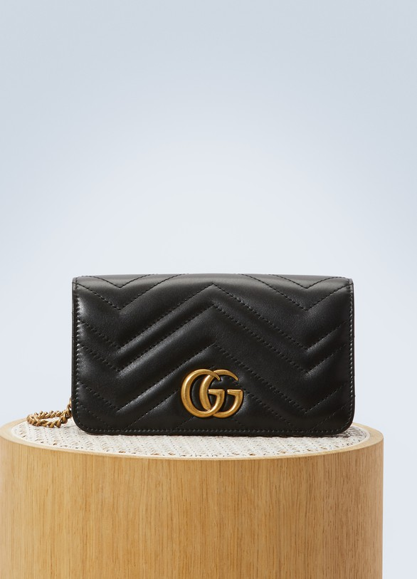 7172ab46c57 Women s GG Marmont wallet on chain