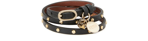 ALEXANDER MCQUEEN Leather bracelet