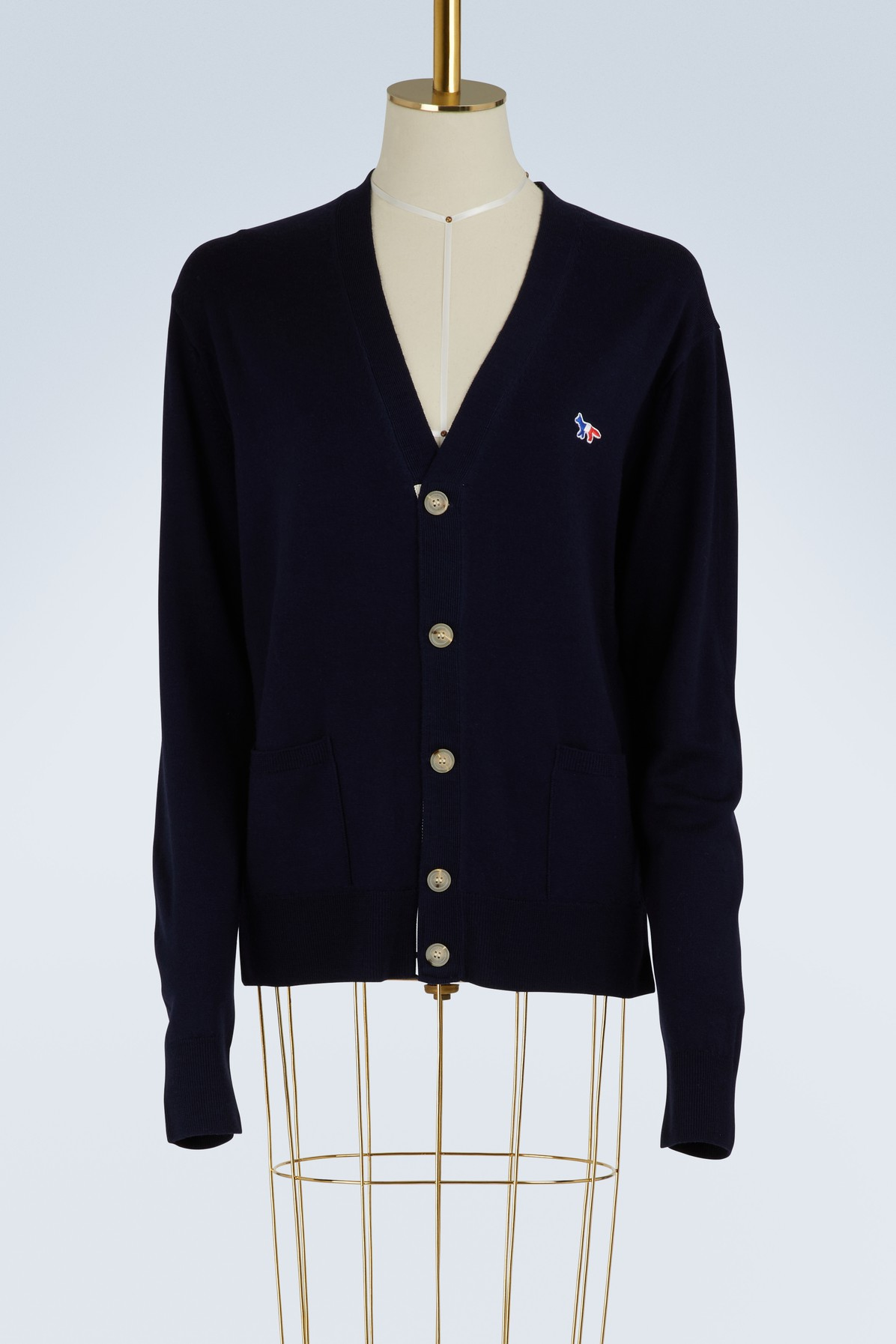 MAISON KITSUNE | Virgin wool cardigan | Goxip