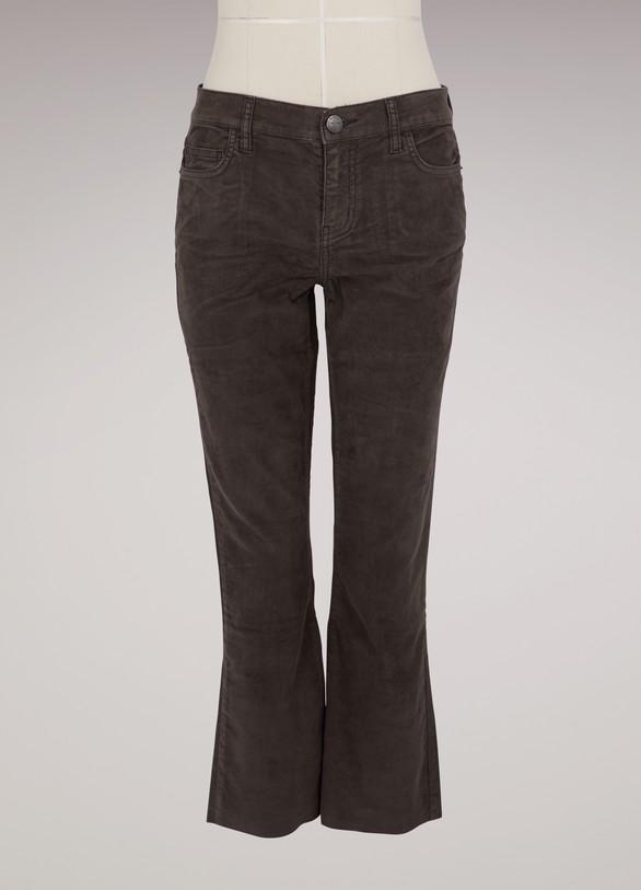 Current ElliottCorduroy jeans with raw-cut hem