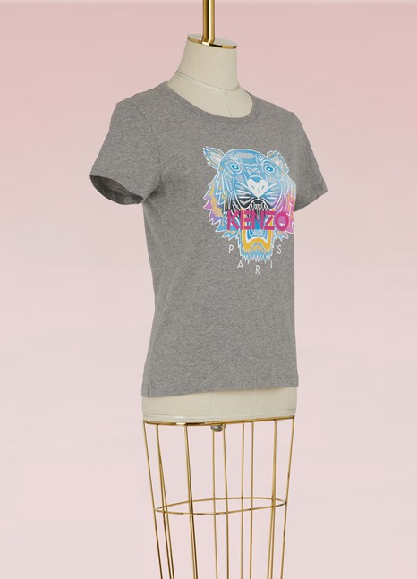 KenzoT-shirt Rainbow Tiger