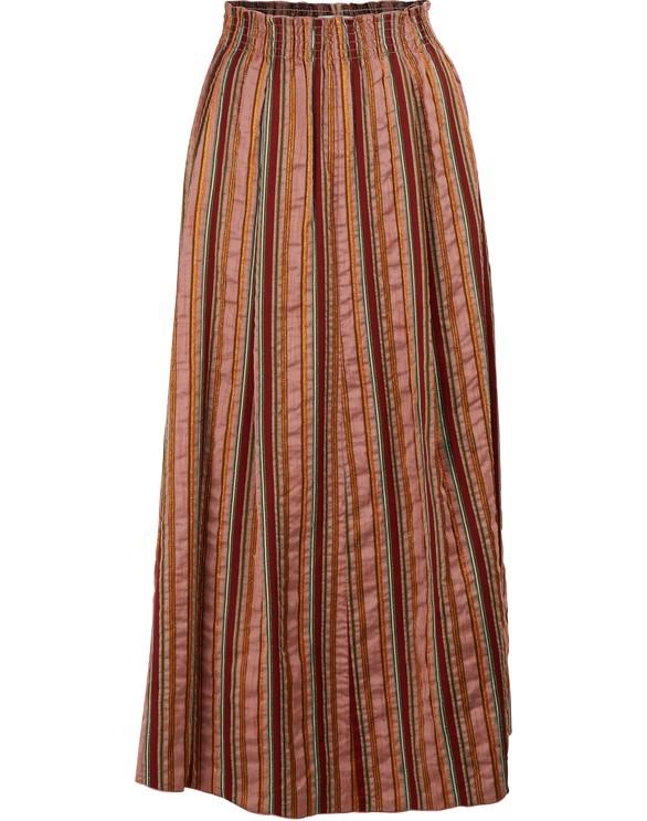 FORTE FORTELong striped skirt