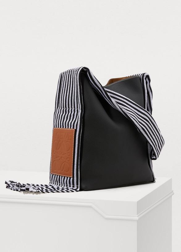LoeweScarf bucket bag