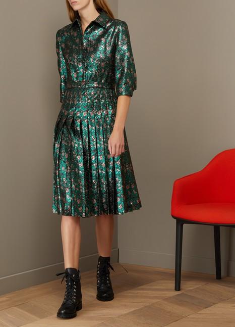 PradaJacquard Dress With Floral Print