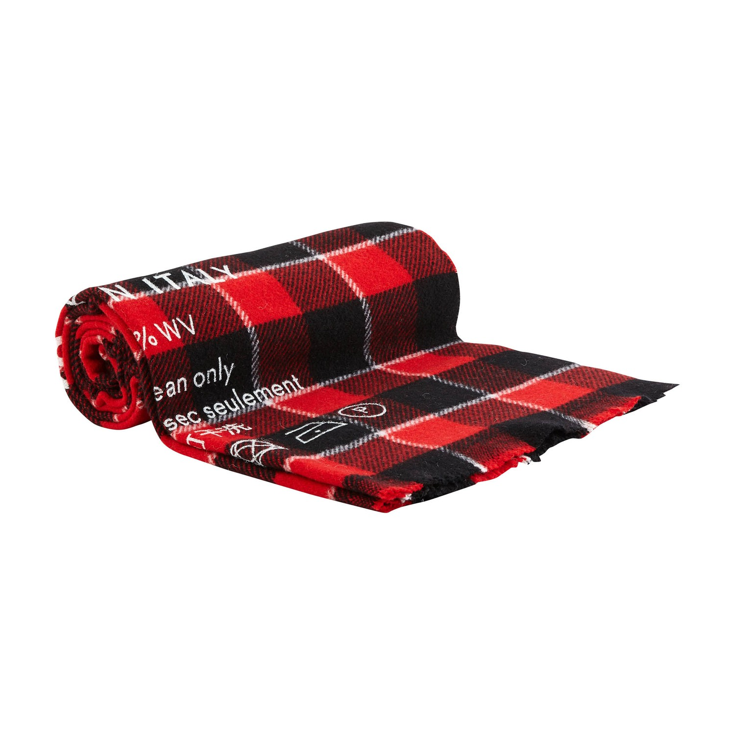 Acne Studios Cassiar Logo-print Checked Wool Scarf In Red/black