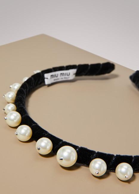 Miu MiuSerre tête orné de perles