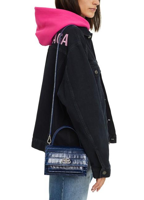 BALENCIAGASharp XS embossed leather bag