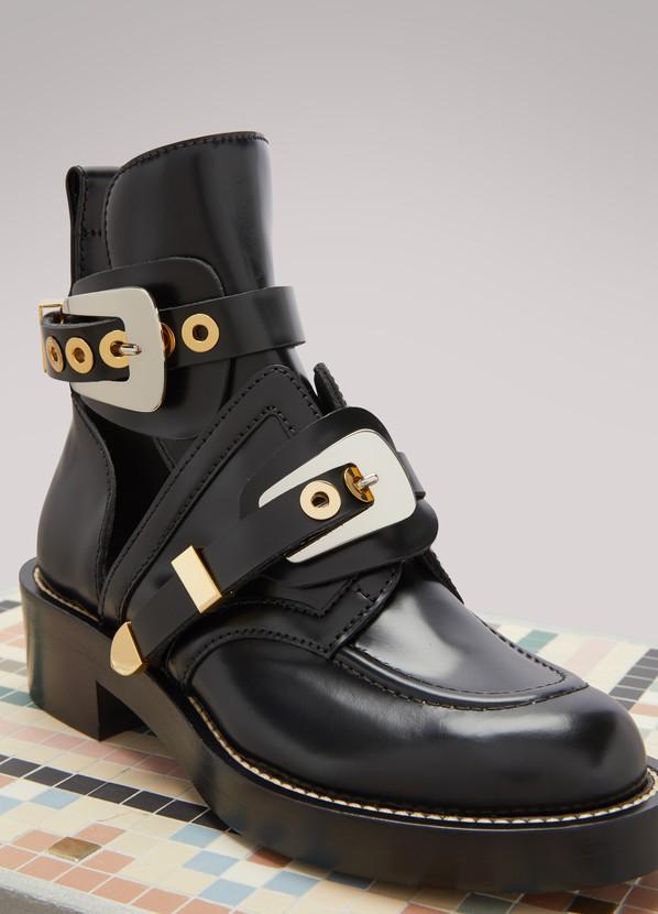 b29774b8f6bda Balenciaga Ceinture flat ankle boots ...