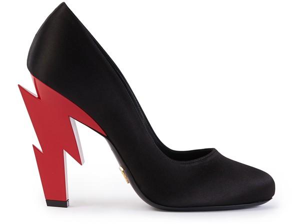 PRADALightning Bolt heels