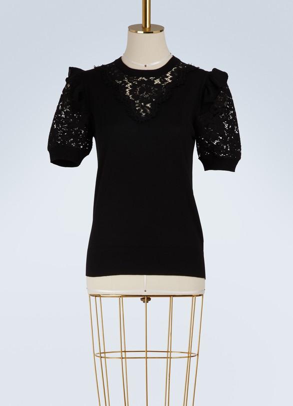 Dolce & GabbanaPull en dentelles en laine