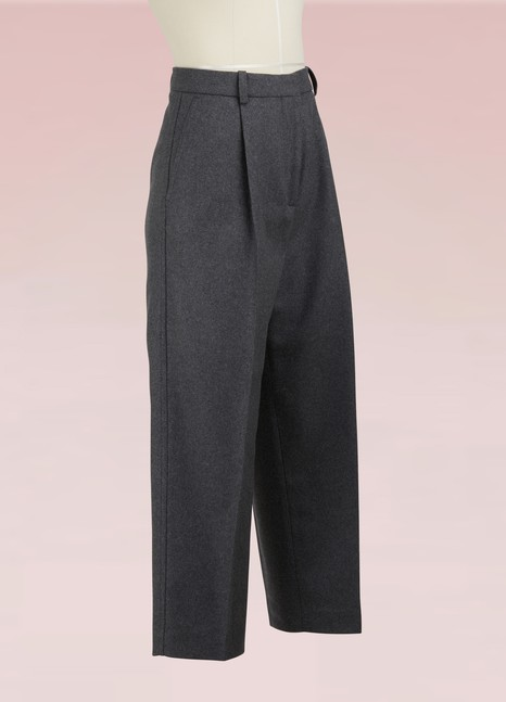 Acne Studios Cropped flannel Tabea pants