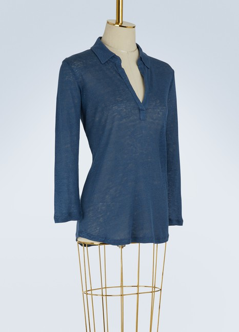 Majestic Filatures3/4-length sleeve polo shirt