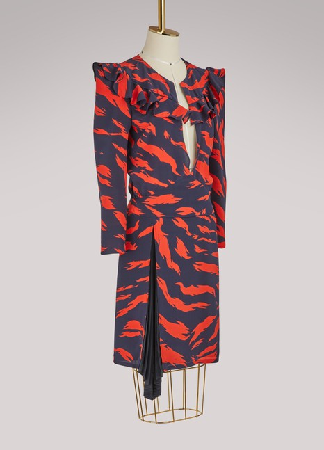 GIVENCHY Robe courte à manches longues Tigre