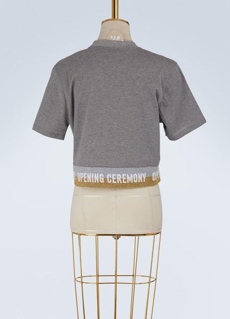 OPENING CEREMONYT-shirt court à élastique logo