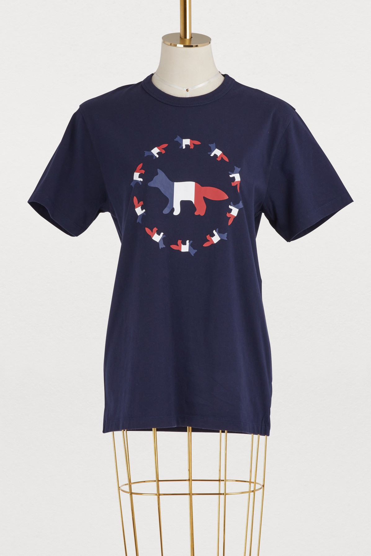 MAISON KITSUNE | Fox flag cotton T-shirt | Goxip