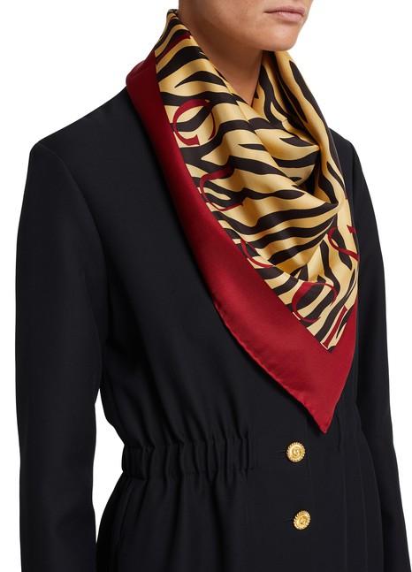 GUCCIZebra print silk scarf