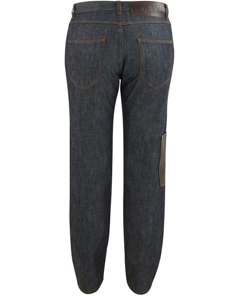 LOEWEJeans with leather pocket