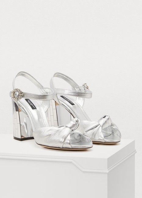 Dolce & GabbanaSandales en cuir mordoré