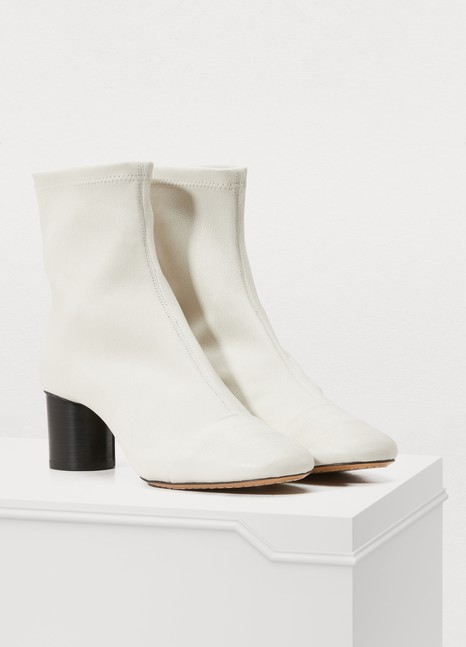 Isabel MarantLeather Datsy boots with heels