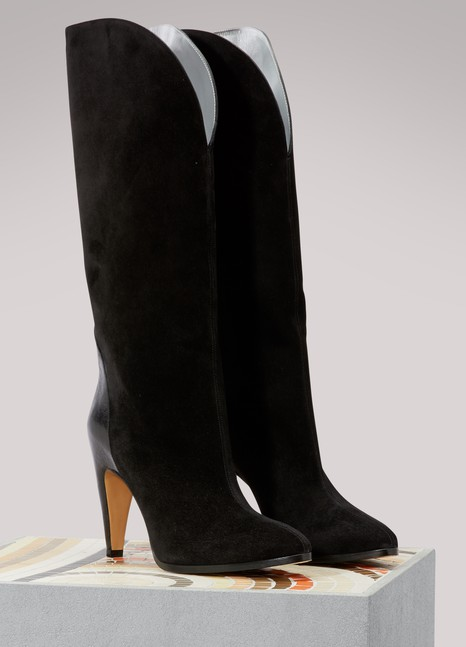 GIVENCHY Bottines en cuir suédé