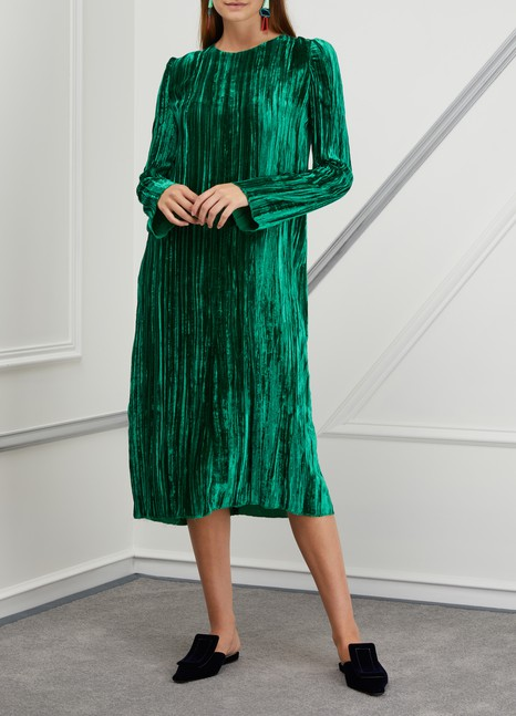 Forte_Forte Pleated velvet dress