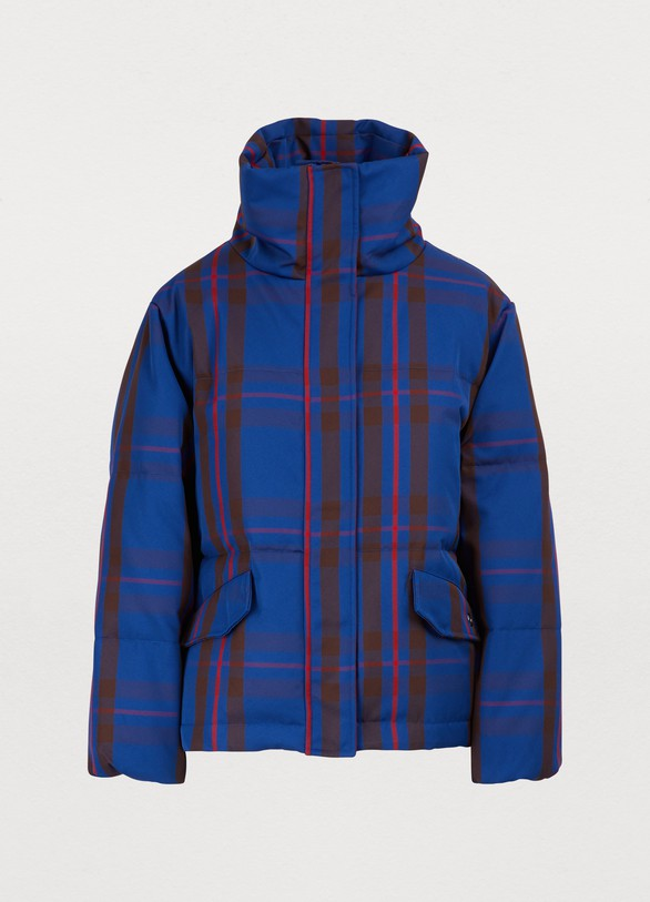 Etudes Plaid down jacket