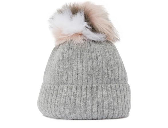 YVES SALOMONWoolly hat with fur