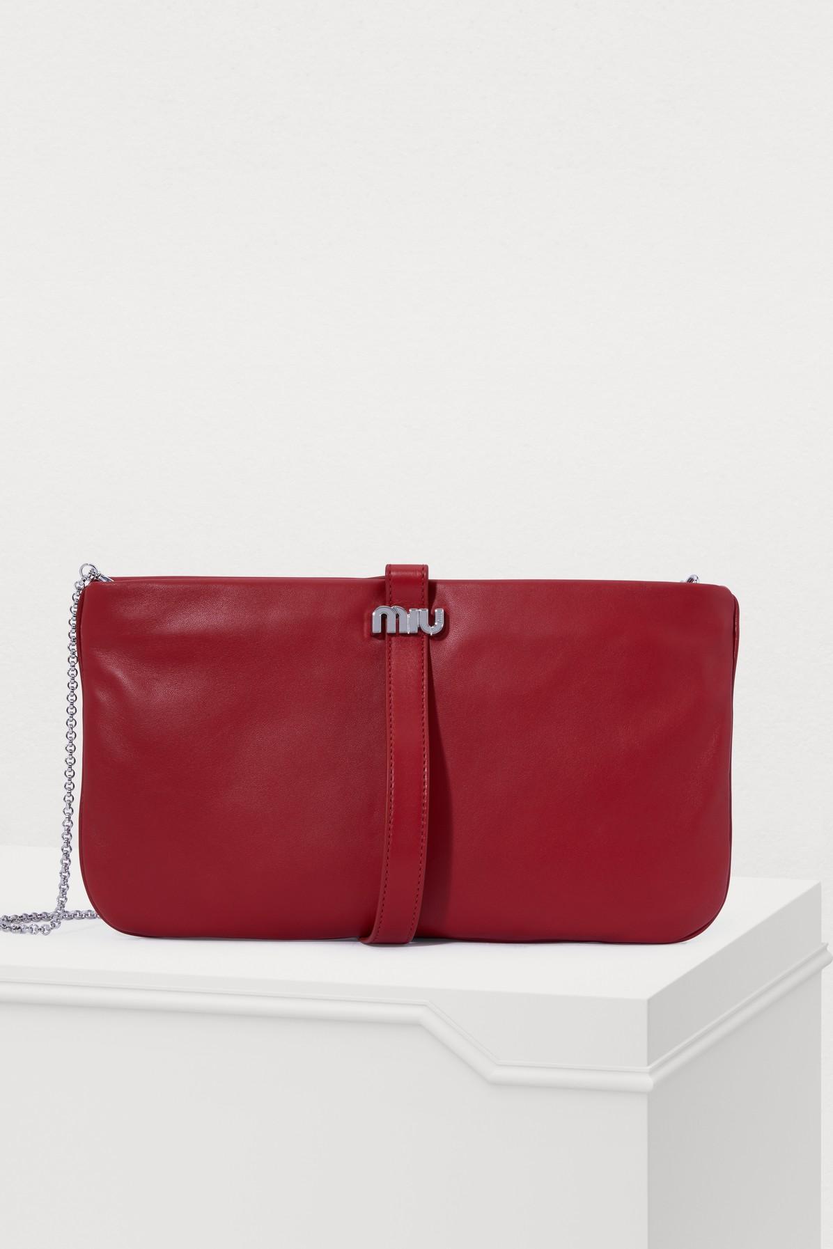 MIU MIU | Leather Miu Clutch | Goxip