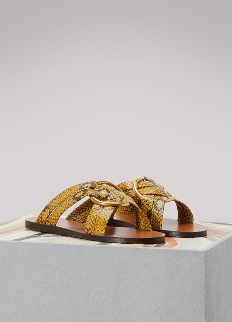 ChloéSandales en cuir