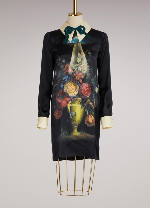 Gucci Space Flowers silk dress
