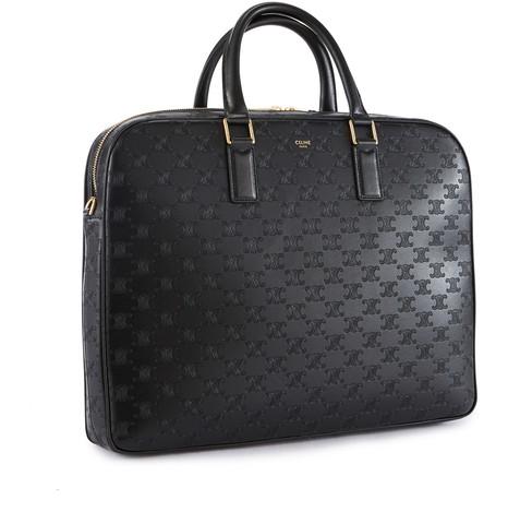 CELINETriomphe medium-sized embossed calfskin briefcase
