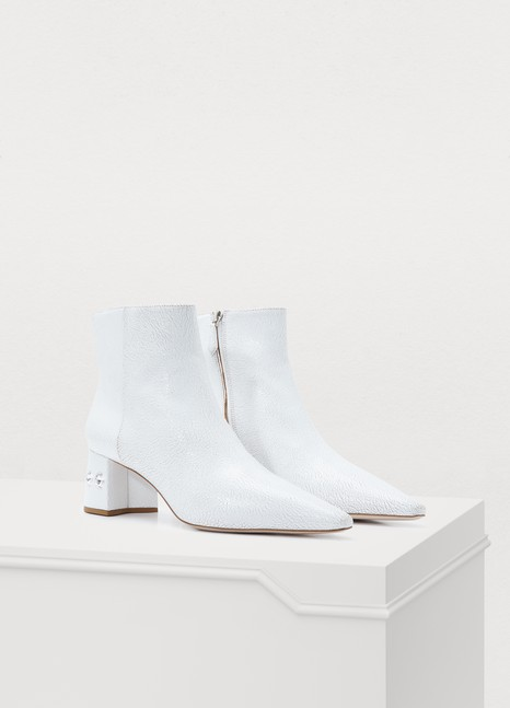 MIU MIUEmbossed leather ankle boots