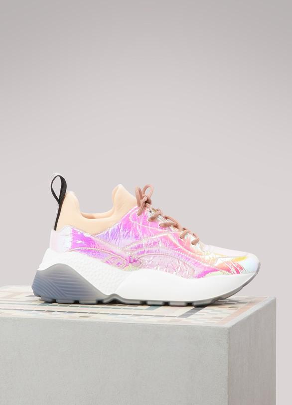 Stella McCartneyMetallic lace-up sneakers