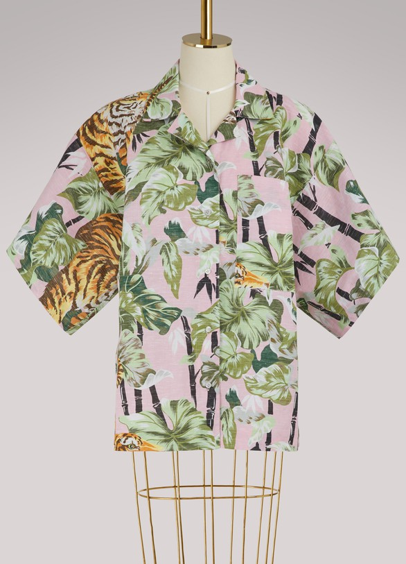 Kenzo Chemise réversible Bamboo Tiger
