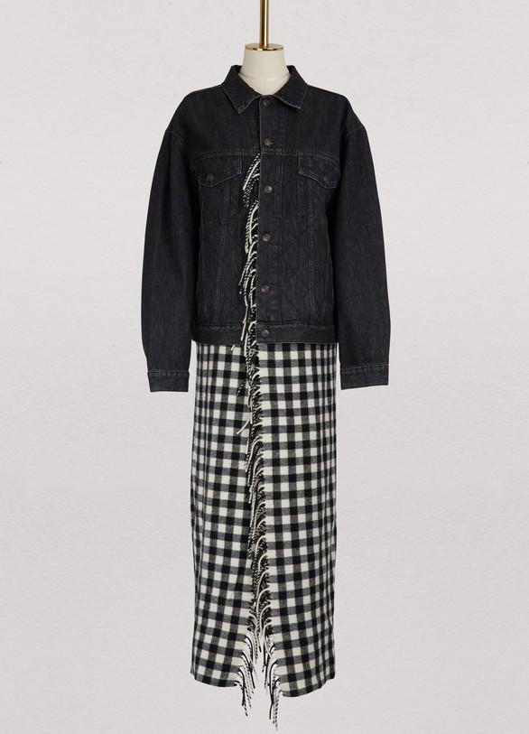 BalenciagaLong denim jacket