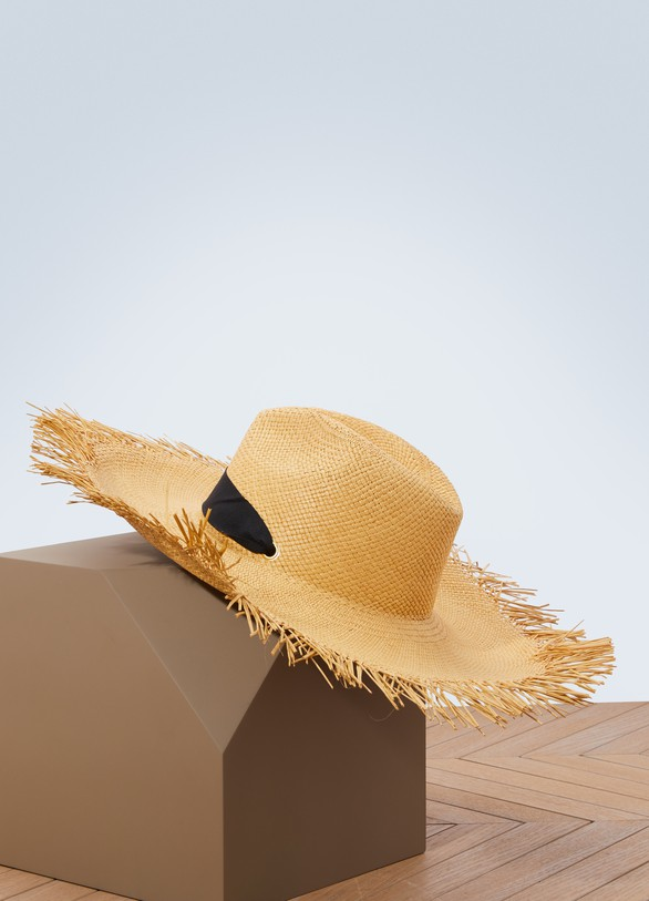 Sensi Studio Panama hat with ribbon