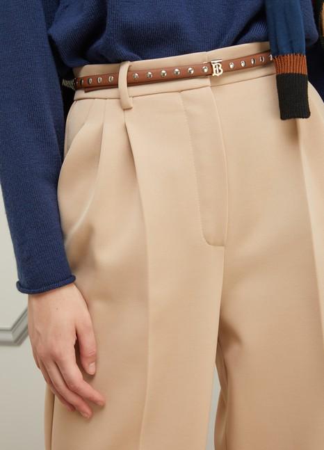 BURBERRYGrained calfskin belt