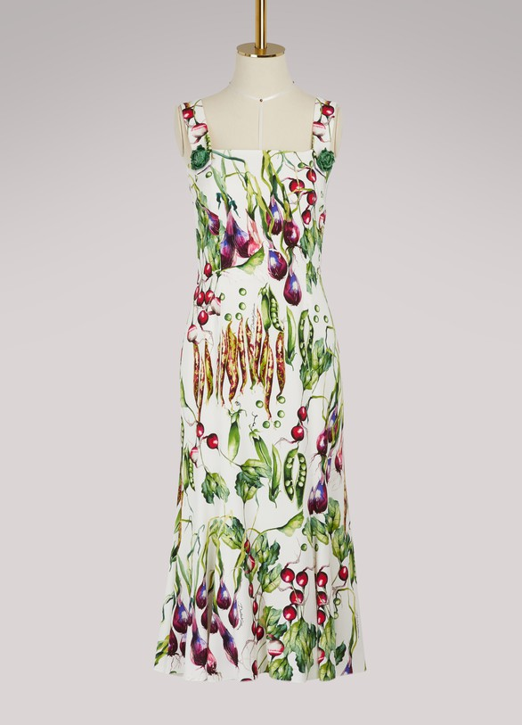 Dolce & Gabbana Mix Vegetables maxi dress