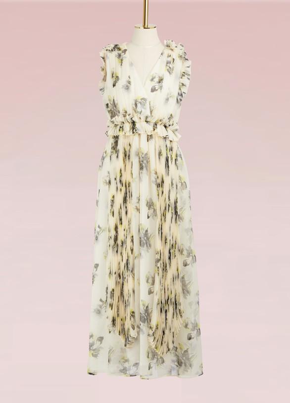 MSGMRobe longue Georgette imprimé floral