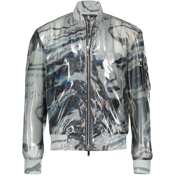 DIOR Iridescent Technical Film Bomber Jacket