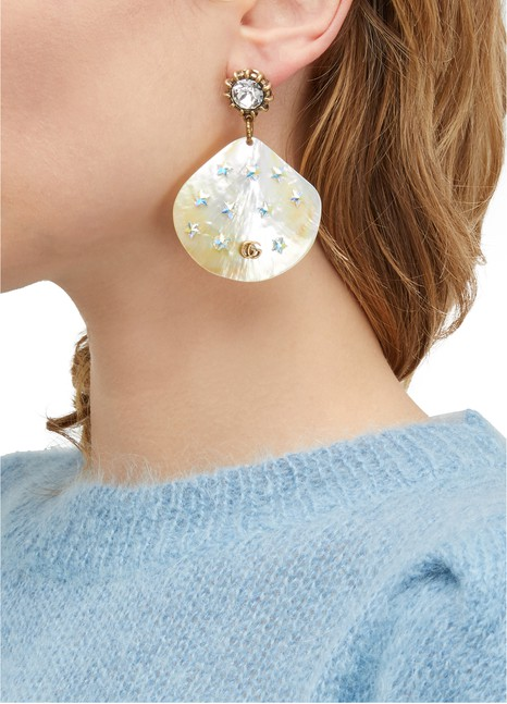 GUCCIShell earrings