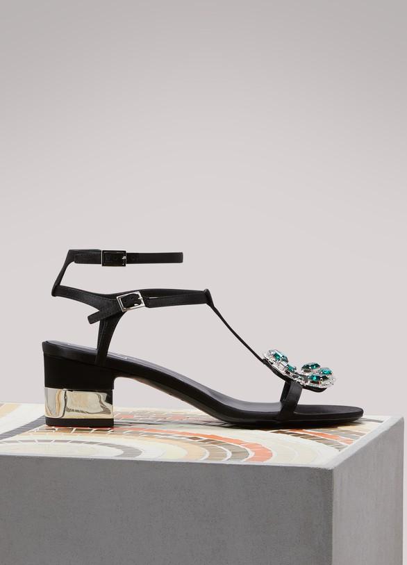 Roger VivierJewels crown high heel sandals
