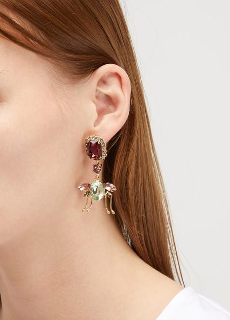 ErdemLadybird Drop earrings