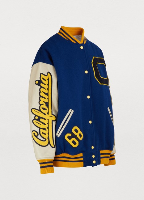 Calvin Klein 205W39NYCVirgin wool varsity jacket