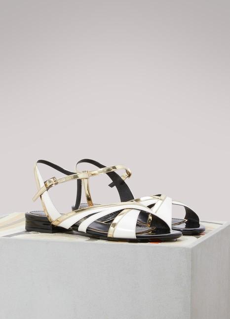 LanvinFlat bicolore sandals