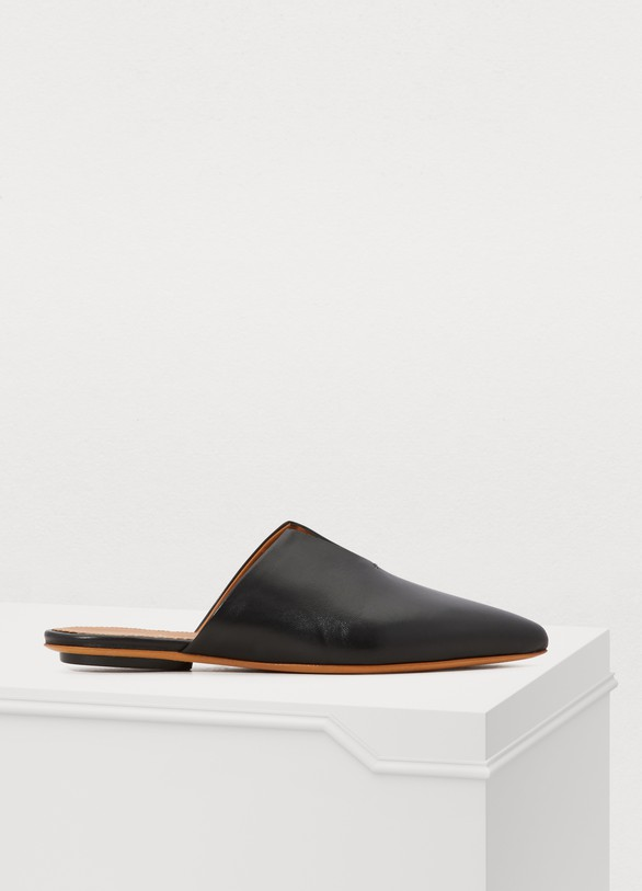 Forte_ForteFlat leather mules