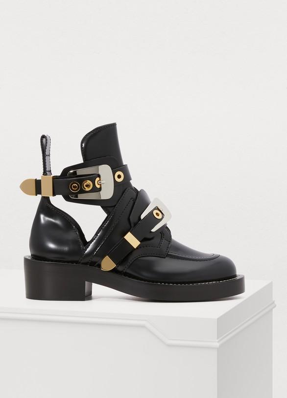 126697204359 Balenciaga Ceinture flat ankle boots