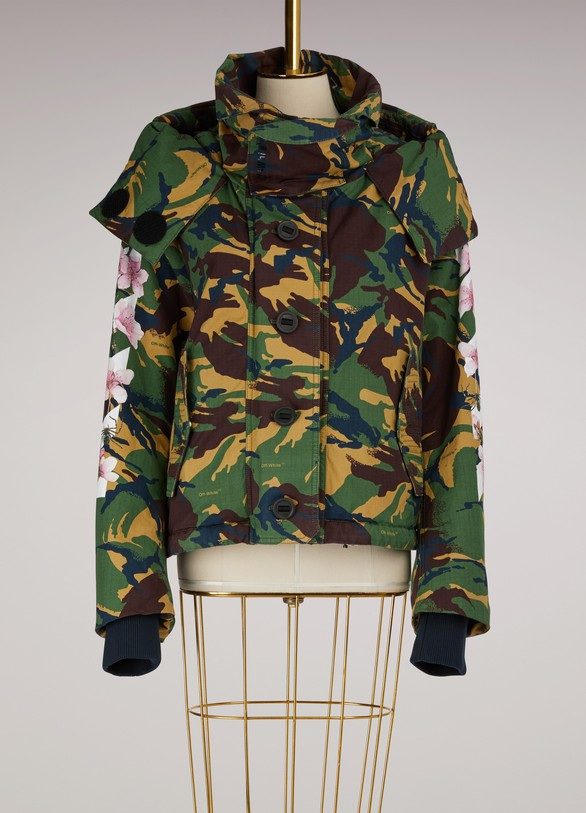 OFF WHITE Manteau camouflage M85 Diag