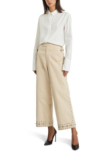BODEStudded khaki trousers